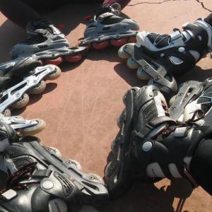Valientes patinadores novatos